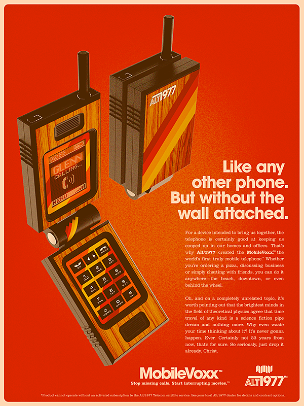 ALT/1977: WE ARE NOT TIME TRAVELERS by Alex Varanese #advertising #retro #contemporary