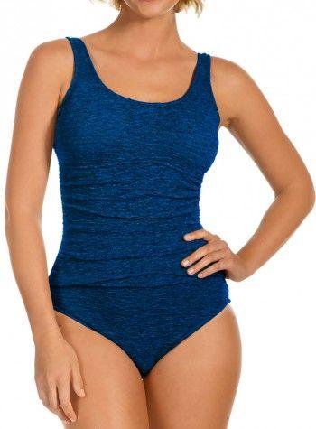 72f5463ed1 Krinkle Chlorine Reistant Women s Empire Mio in Mykonos Blue ...