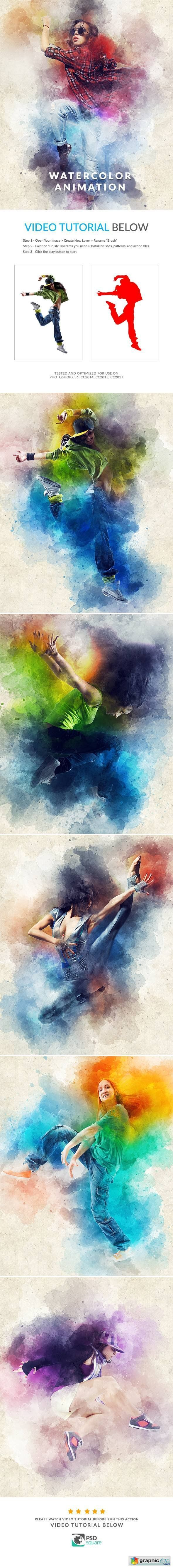 watercolor artist photoshop action free download