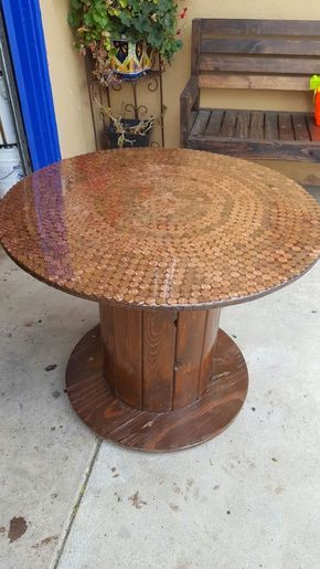 Wood cable spool for Sale in Tustin, CA - OfferUp #cablespooltables