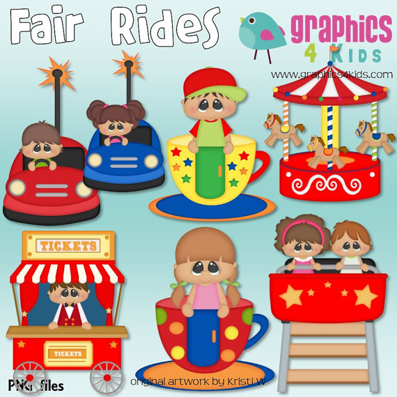Fair rides digital clipart clip art for scrapbooking party fair rides digital clipart clip art for scrapbooking party invitations instant download clipart commercial use voltagebd Image collections
