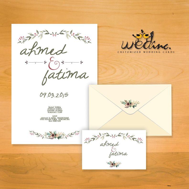Anum \ Sikander - Vintage, floral wedding invite Cards Designed - best of sample invitation letter gathering