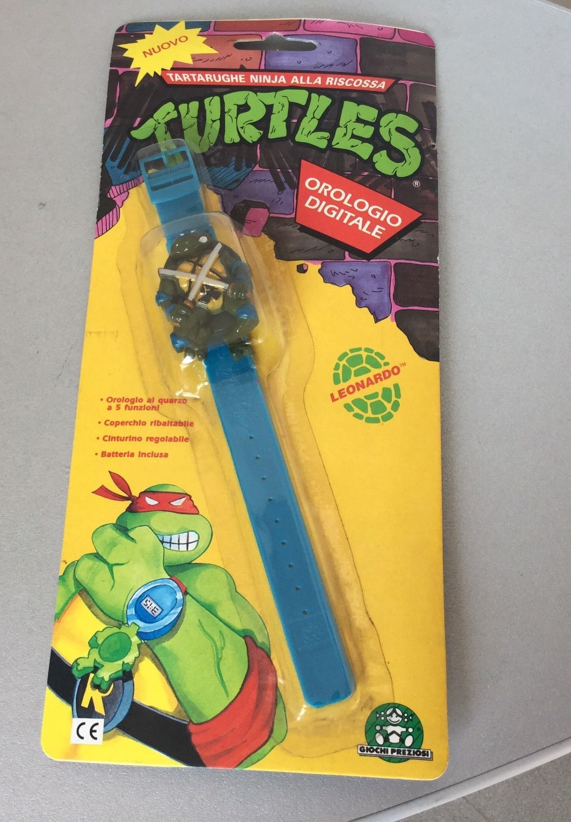 Vintage rare tmnt teenage mutant ninja turtles leonardo watch