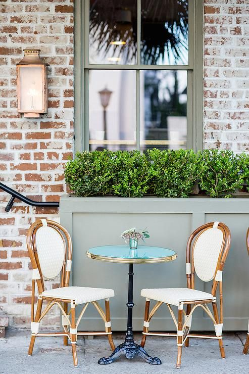 French Cafe Chairs Crushed Velvet Bedroom Chair Glass Top Bistro Table With Transitional Deck Patio More