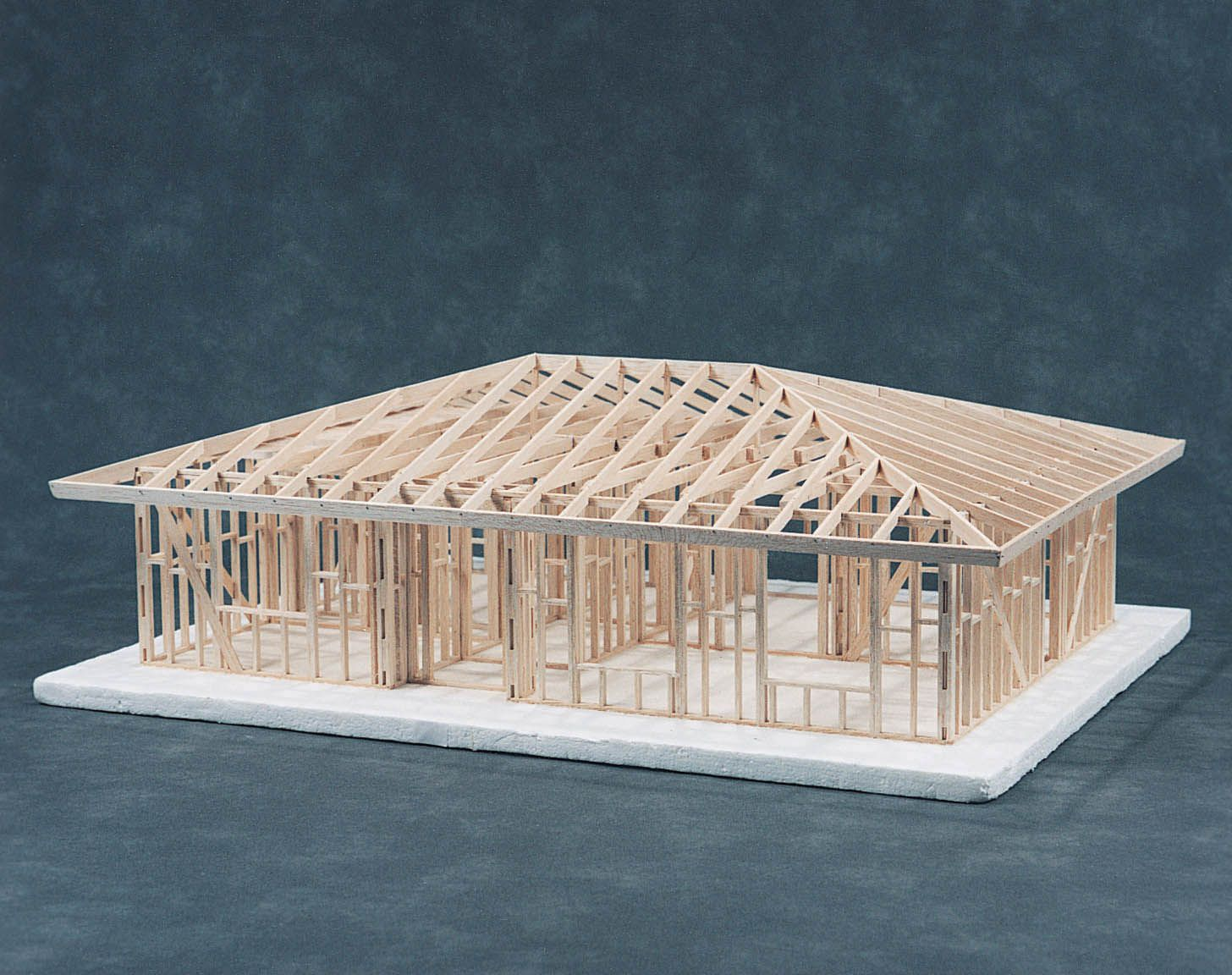 Hip roof house framing kit cat 83 541001c for Kits for building a house