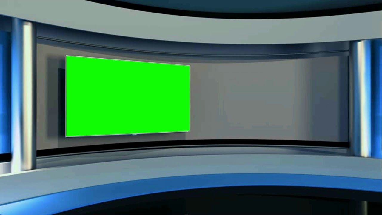 News Virtual Studio Tv Studio Background Green Screen Effect 1080p Hiburan