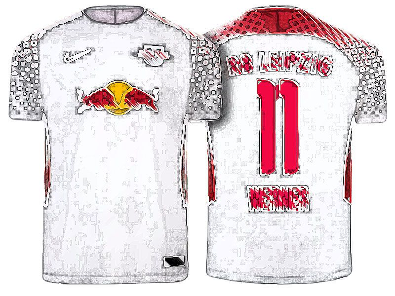save off 942dd 7d20a RB Leipzig Jersey Shirt For Cheap timo werner Home Kit ...