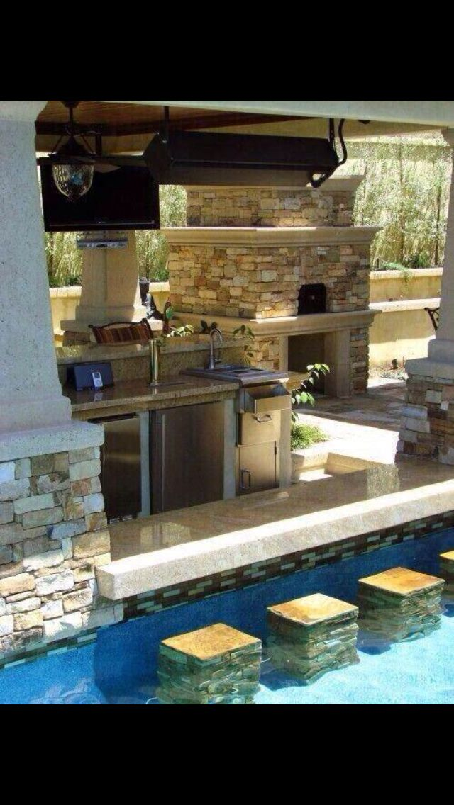 Pool bar | Luxury Houses | Pinterest | Pool bar, Luxury houses and House