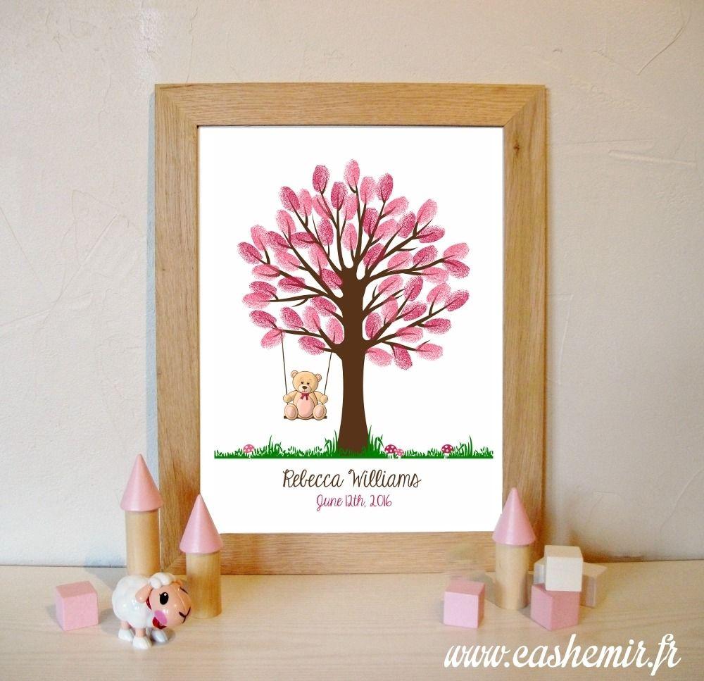 bapt me arbre empreintes naissance b b enfant anniversaire baby shower f arbre. Black Bedroom Furniture Sets. Home Design Ideas