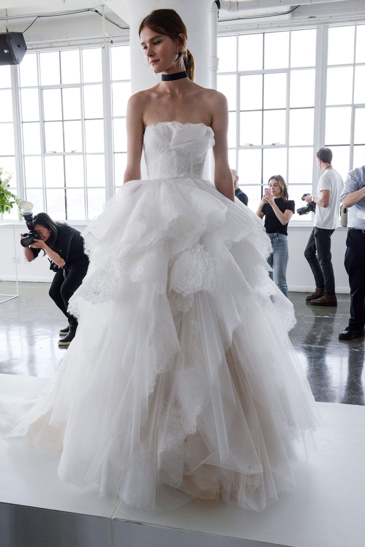 Marchesa Bridal Spring 2018 Fashion Show Modern Wedding Dresses