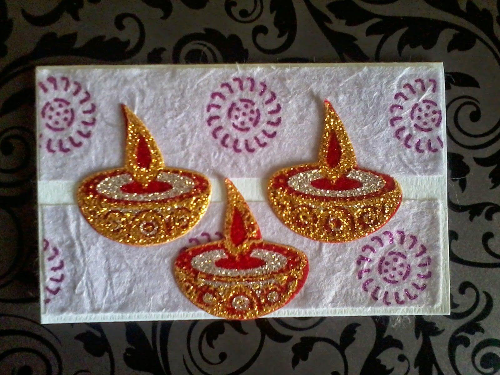 pin on handmade diwali card