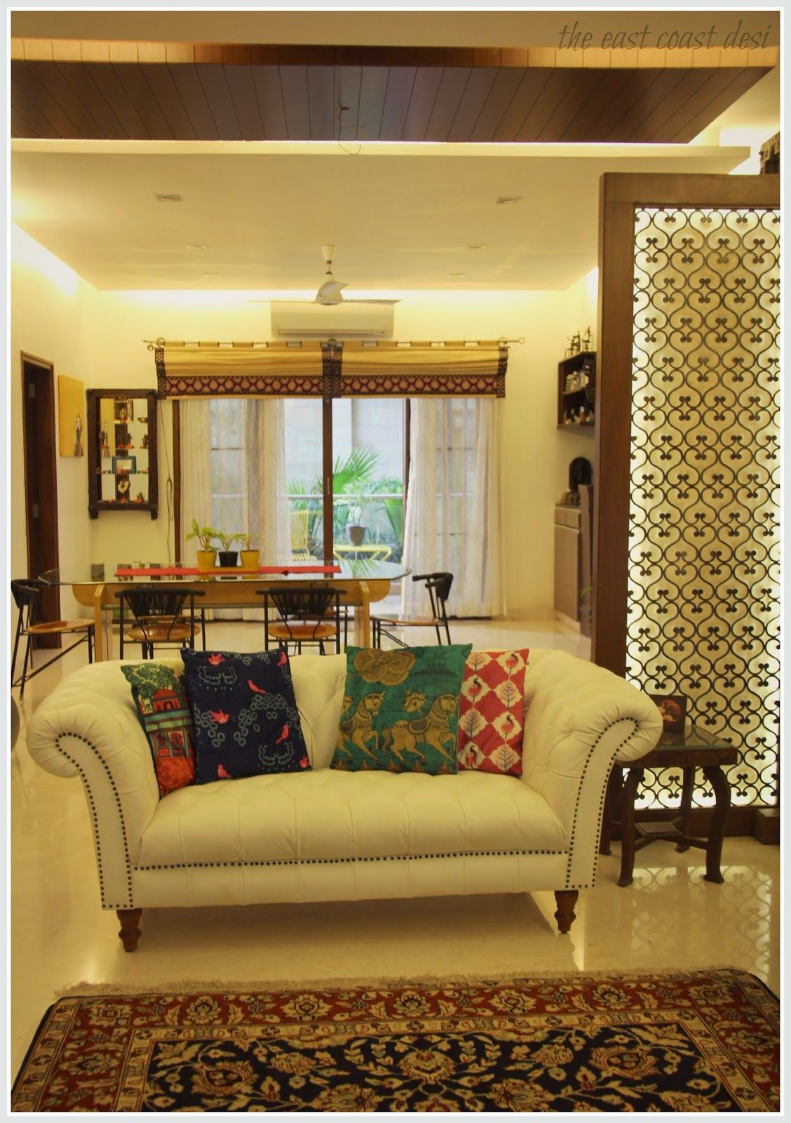 Indian Home Decoration The East Coast Desi Masterful Mixing Home Tour Decor