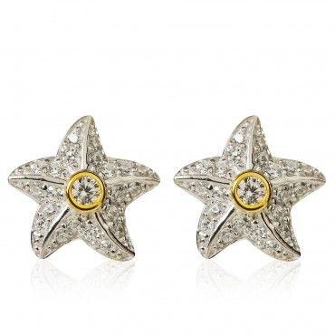 miglior sito web a2f46 e94d3 Diamonique Orecchini a stella pari a 0.27ct in argento 925 ...