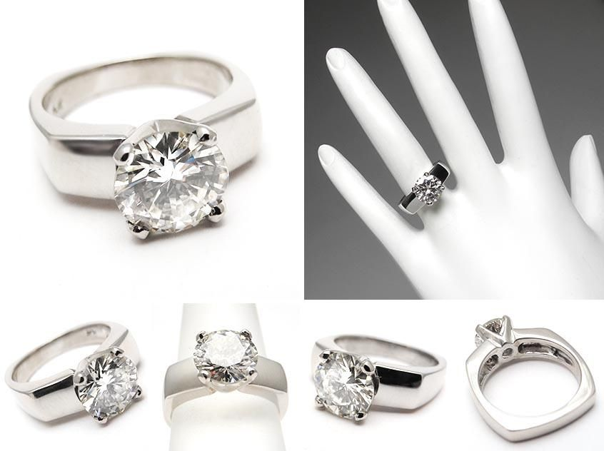 2ct round cut solitaire ring thin wedding band carat genuine diamond solitaire engagement ring solid - 2 Carat Wedding Ring