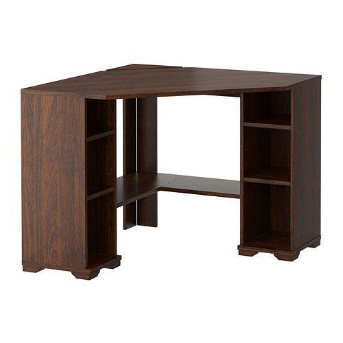 Wooden Office Furniture Corner Desk, Corner Desk Brown