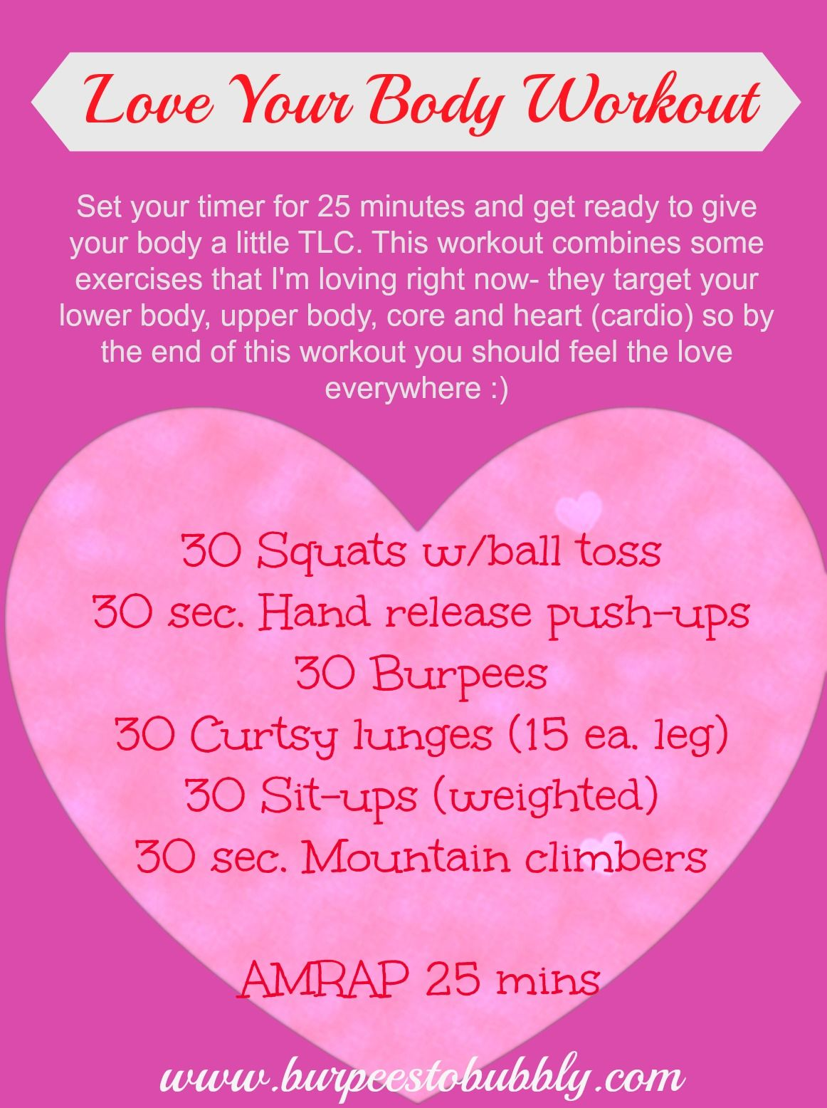 Wednesday Workout {Valentine's Day Edition} The Love Your