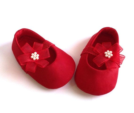 781470b255b2f Red baby shoes. Red baby girl shoes. Red baby by joojoocraft, £18.99 ...