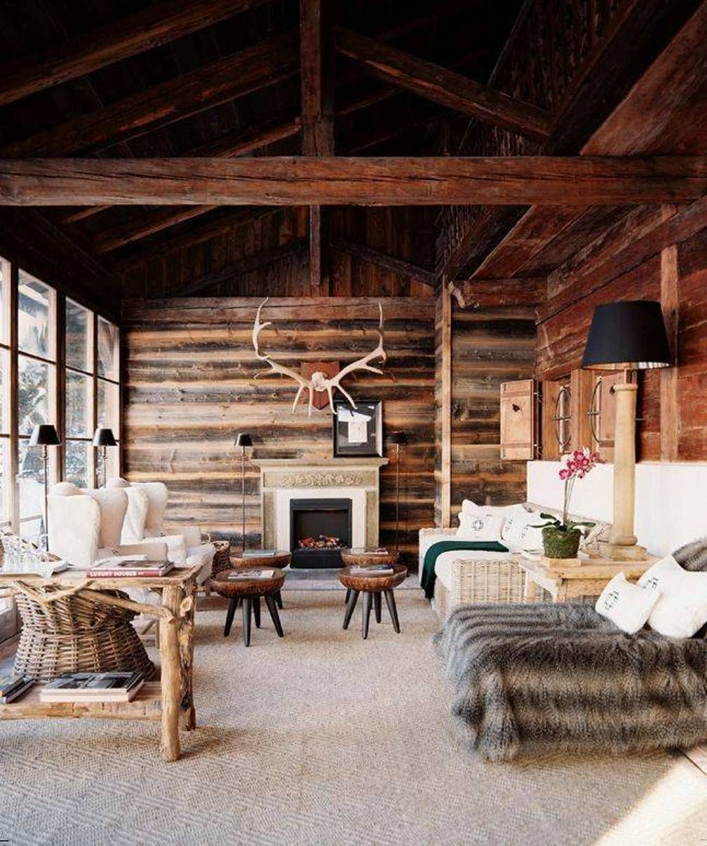 Home Design and Decor , Rustic Interior Design Style For The Home : Rustic  Interior Design Style With Wooden Ceiling And Walls And White Uph.