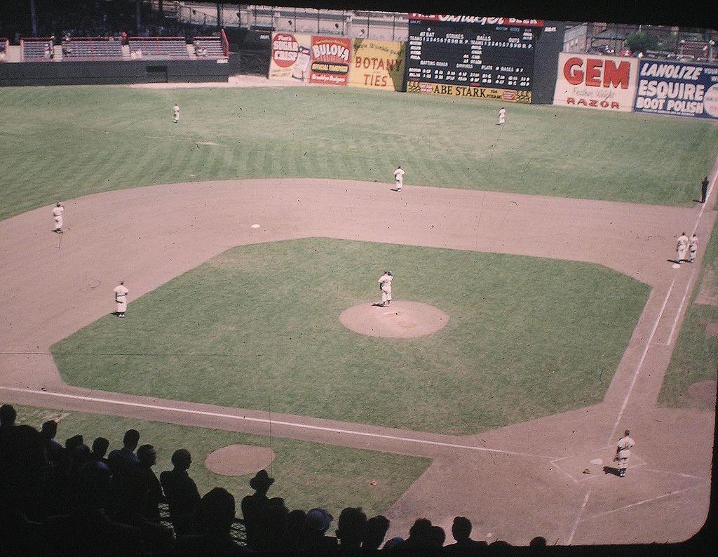 Ebbets Field 1948 Baseball Stadium Baseball Park Mlb Stadiums