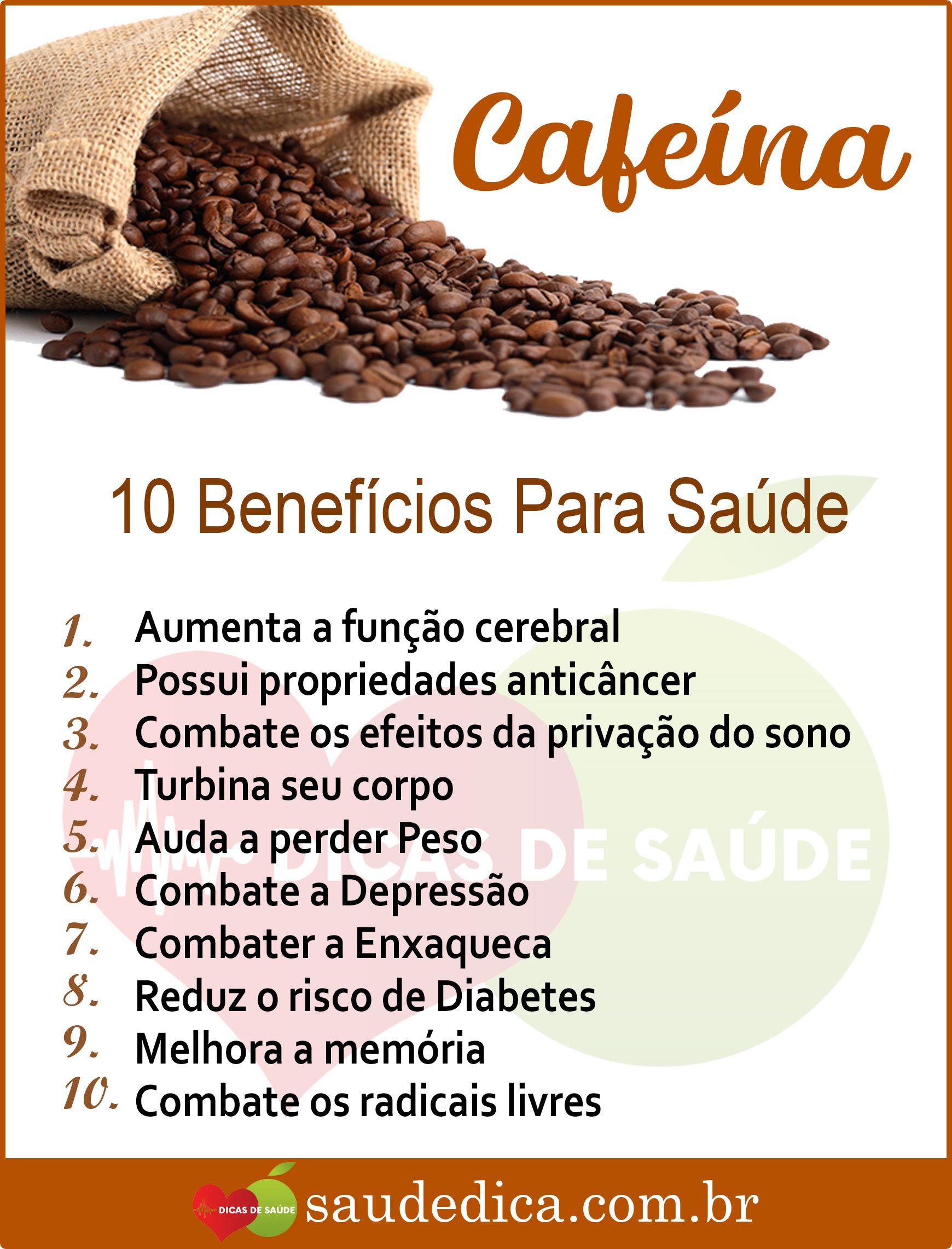 Os 10 Benefícios da Cafeína Para Saúde | Alimentação e saúde, Saúde, Saúde  e nutrição
