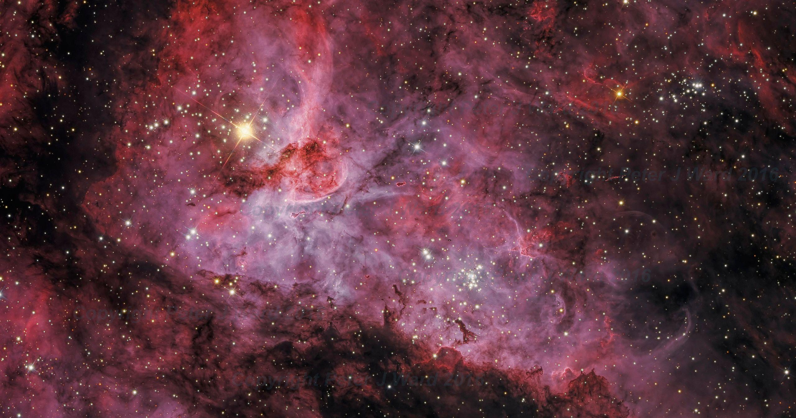 orion nebula in night sky - HD2560×1346