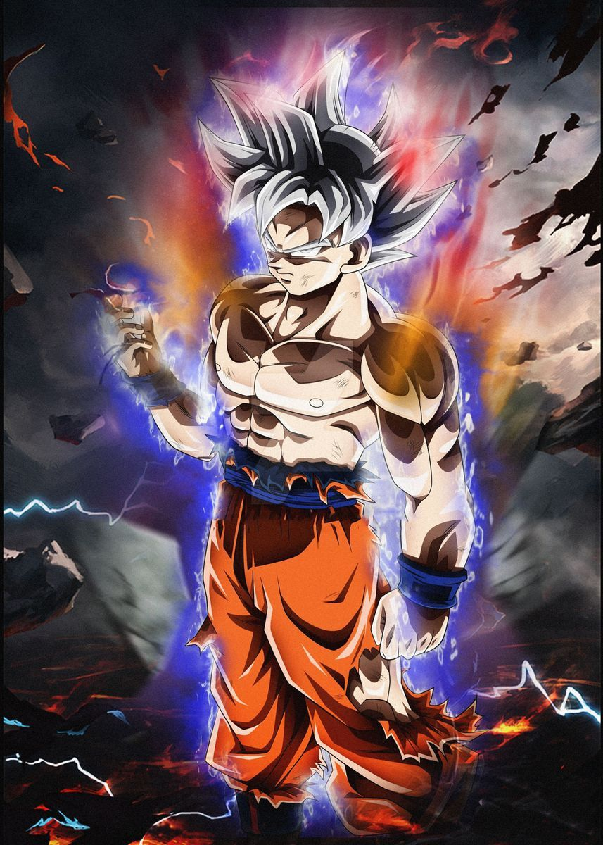 Son Goku Poster By Lony Cocai Displate In 2021 Anime Dragon Ball Super Dragon Ball Super Art Dragon Ball Super Goku