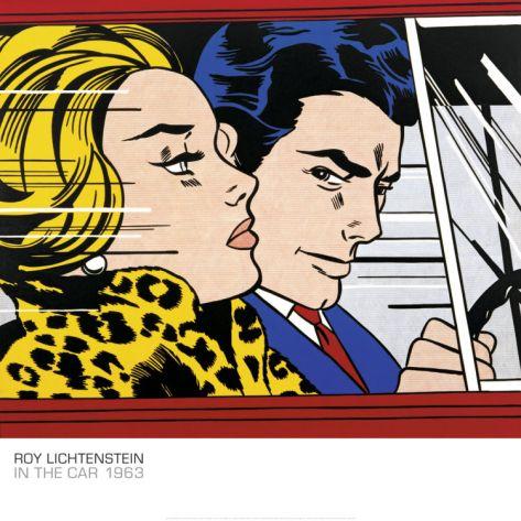 In The Car C 1963 Art Print Roy Lichtenstein Art Com Lichtenstein Pop Art Pop Art Comic Roy Lichtenstein Pop Art