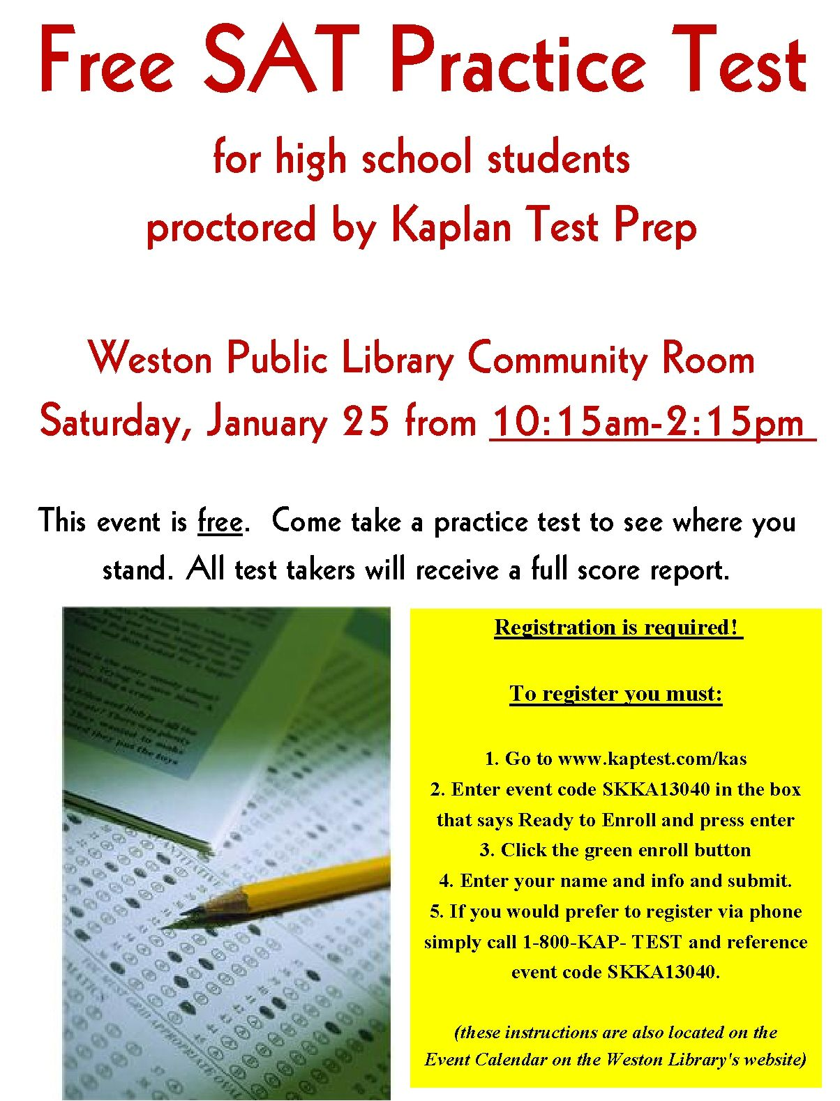 Free SAT Practice Test | Library Events & Displays | Pinterest ...