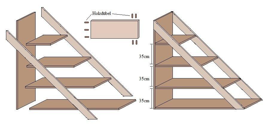 15++ Regal treppe selber bauen ideen