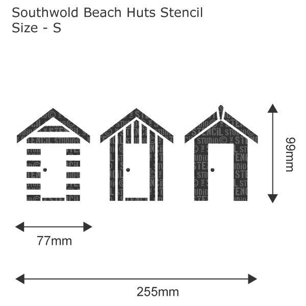 Southwold Beach Huts Stencil Beach Hut Beach Stencils Wall Stencil Designs