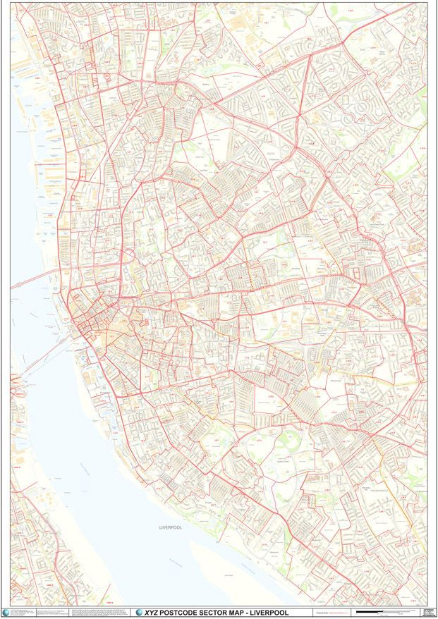 Liverpool City Centre Postcode Sector Map C2 Liverpool city