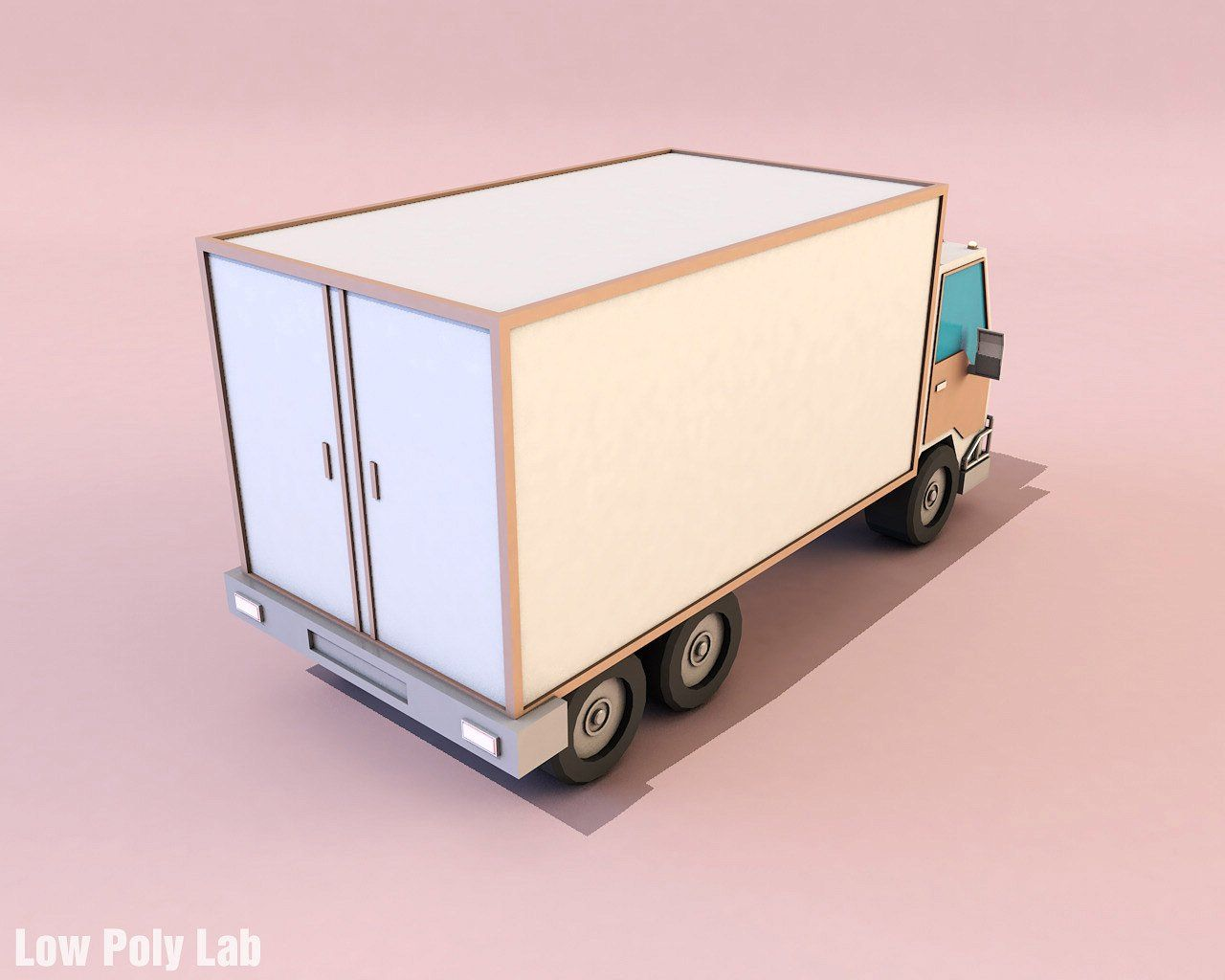 Cartoon Truck Low Poly 3d Model With Images Low Poly 3d Models