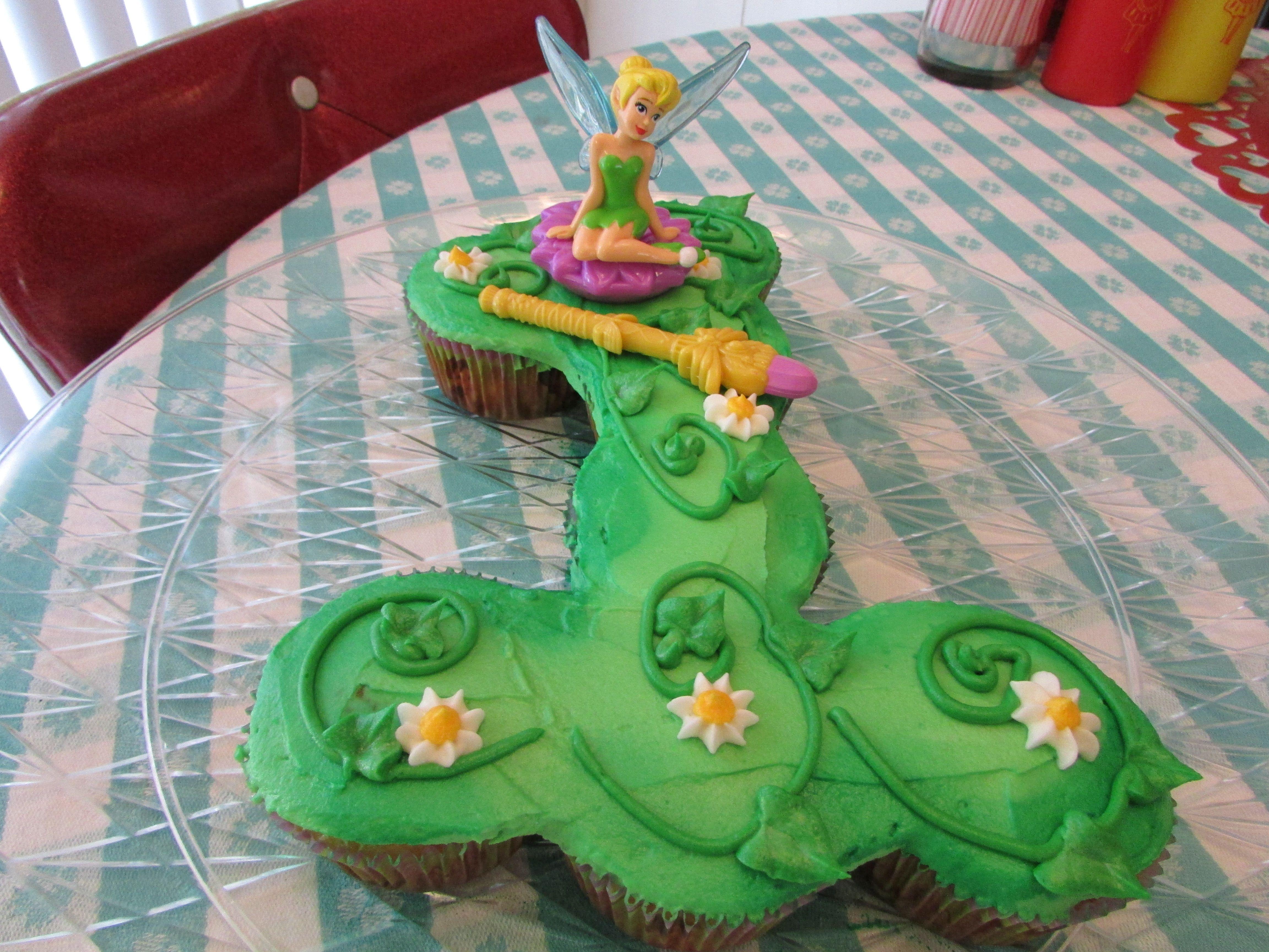 Tinkerbell 1st Birthday Cupcake Cake Kaylies 1st Birthday Ideas
