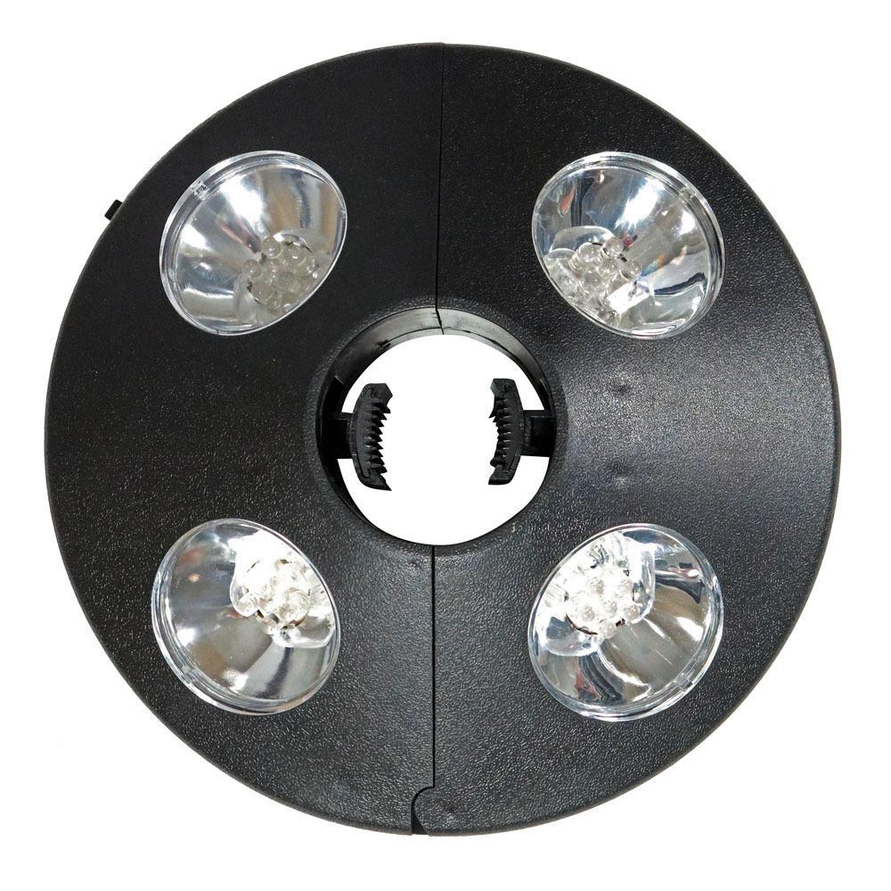 Sunnydaze Decor Outdoor Patio Umbrella Lights, 4-Panel Cordless 24 LED in Black ECG-250 - The Home Depot