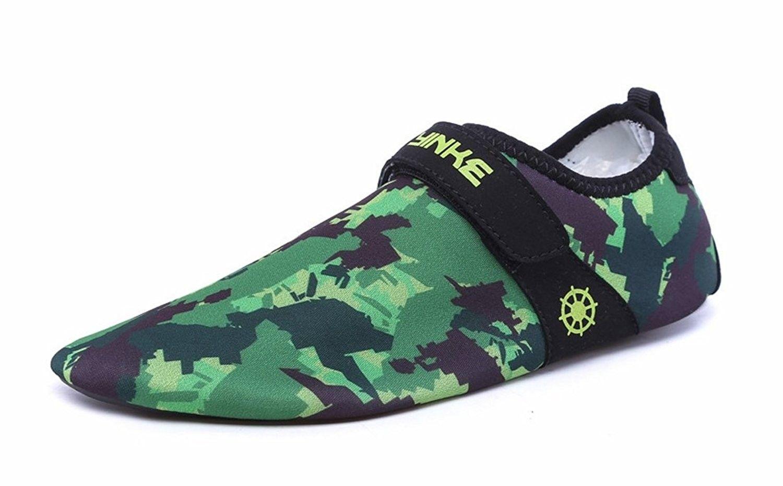 d37fa0e686 Aqua Socks For Men Women Barefoot Quick Dry Water Skin Shoes For Beach Swim  Surf Yoga - Camo - CP17AZYZ4RU - Women s Shoes