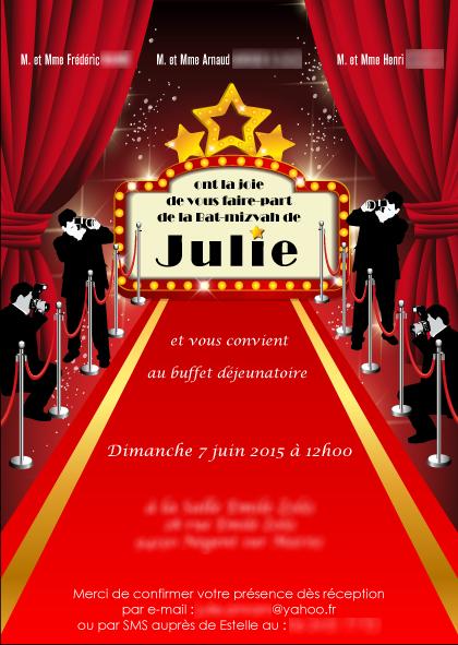 Carte anniversaire thème star, festival de Cannes | Cartes ...