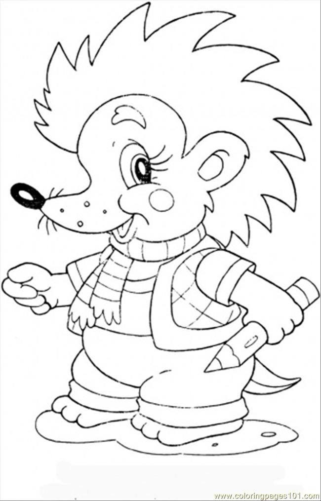 Baby Hedgehog coloring page - Free Printable Coloring Pages ...