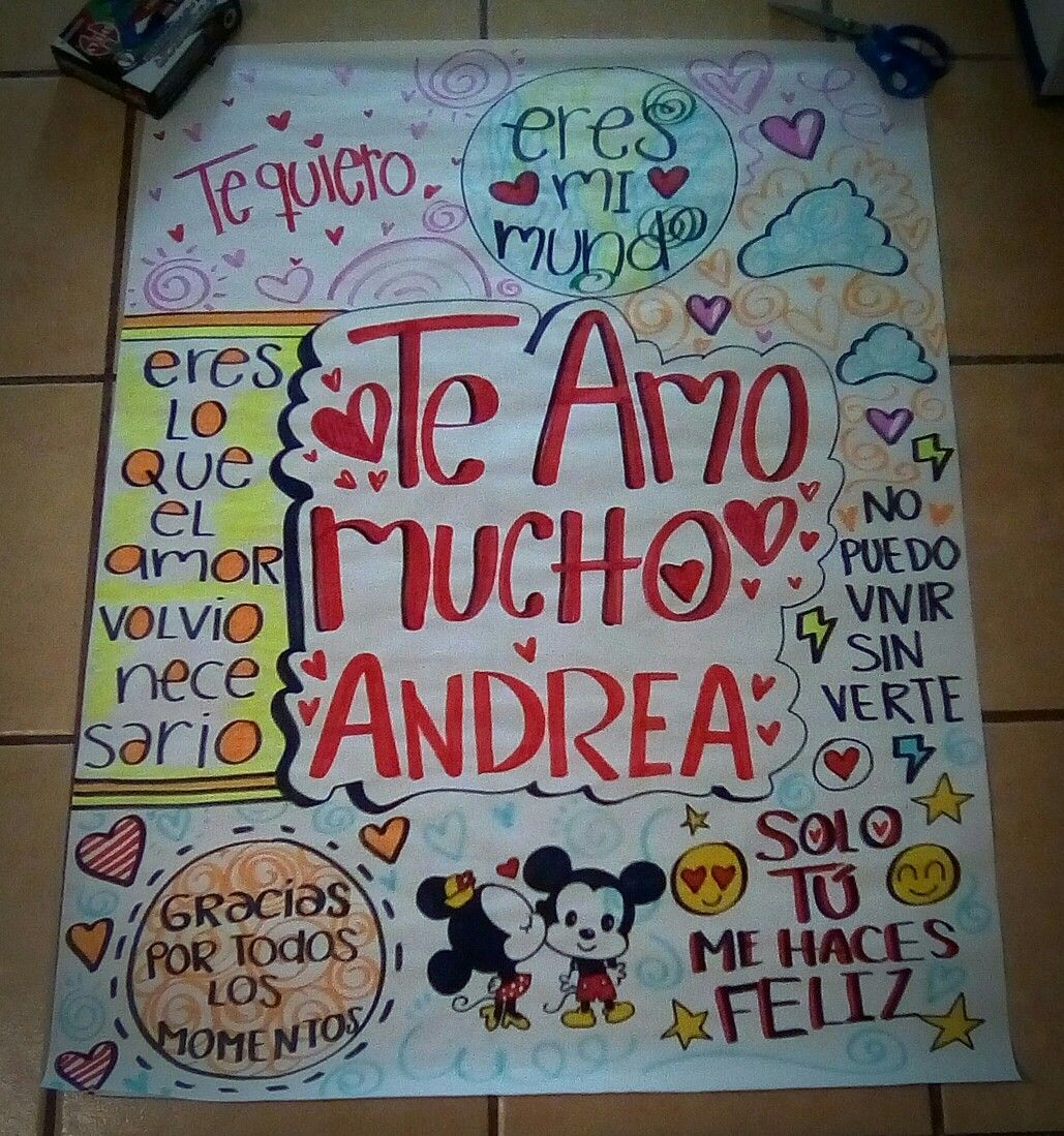 Cartel para mi novia | Adry | Pinterest