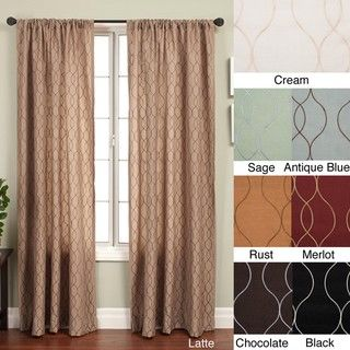 Softline Keeva Rod Pocket 96 Inch Curtain Panel 55 X 96 96