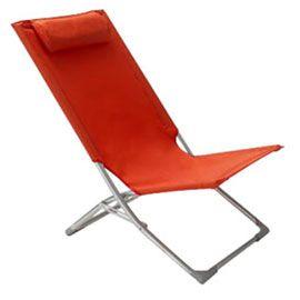 Castorama - Chaise de plage pliante rouge Meloon | Chaise de ...