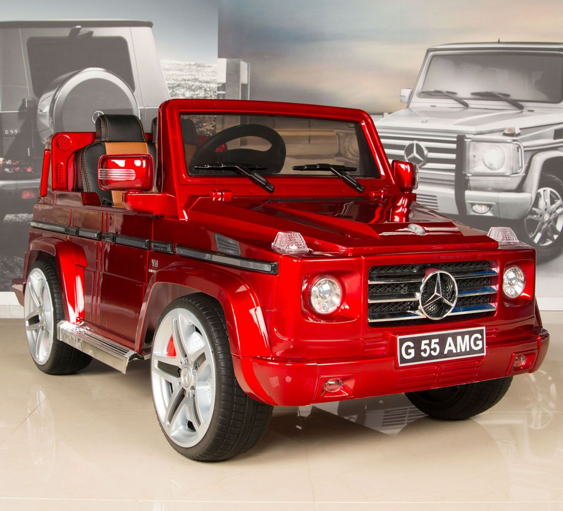 5red mercedes g55 amg 12v kids ride on car battery power wheels w