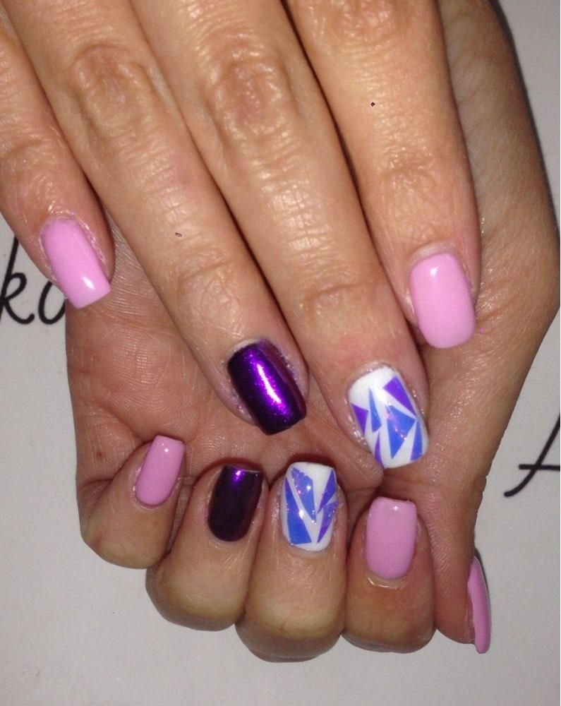 Pcsset nail art transfer stickers acrylic coffin nail design for