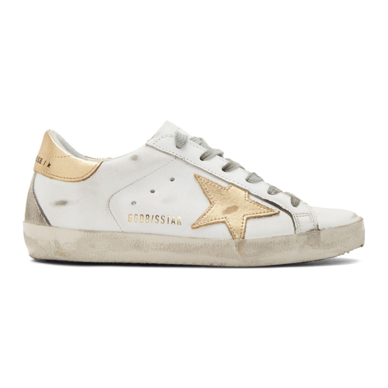 Golden Goose: White \u0026 Gold Superstar