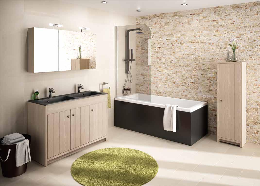 Prachtige landelijke badkamer met handige functionele ...