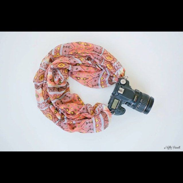 """❤️ BE that super stylish photographer everyone is envious of  @thecamerascarf with """"The Kelly"""" Camera Scarf❤️ Watch our tutorial: http://youtu.be/KnWdENfHIks"""