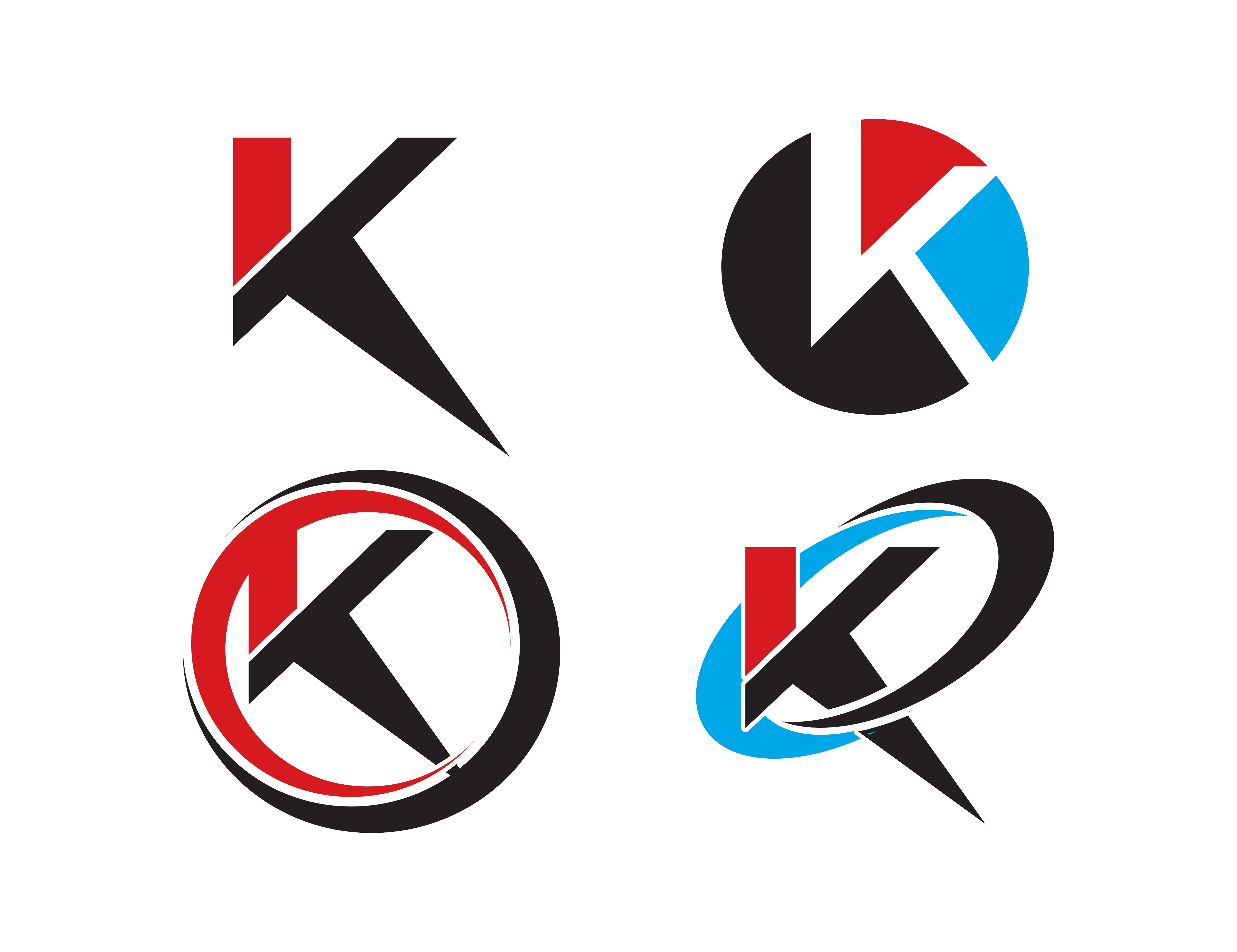 Set of Letter K Logo Icons (Graphic) by meisuseno