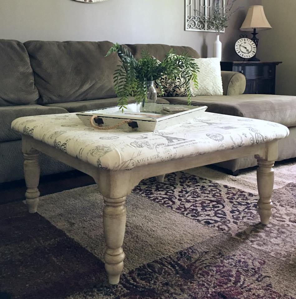 Diy Farmhouse Coffee Table Ottoman Easy Tutorial Furniture