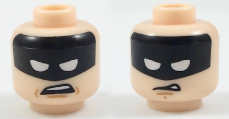 063b5c9b5 BrickLink - Part 3626cpb1957 : Lego Minifig, Head Dual Sided Black Headband  with Squinted Batman Eyes, Worried / Disgusted Expression Pattern - Stud ...