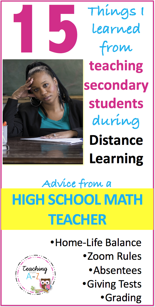What I Learned from Distance Learning Advice from a High