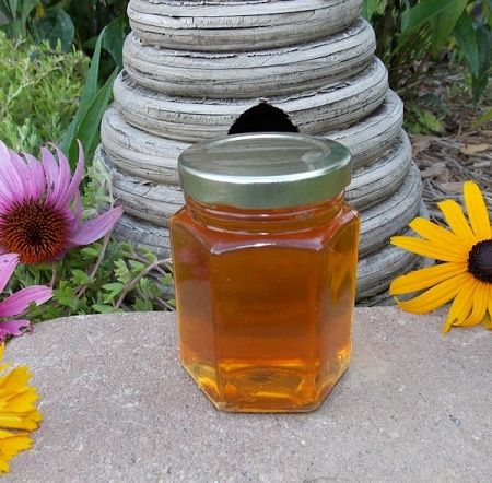 6 oz Hexagon Orange Blossom Honey Favor Jar - These are Not Personalized!